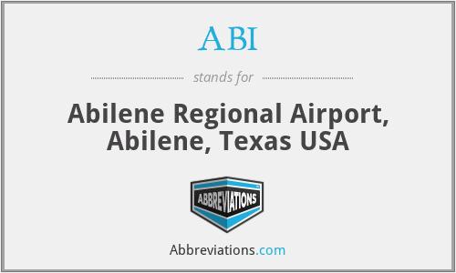 ABI - Abilene Regional Airport, Abilene, Texas USA