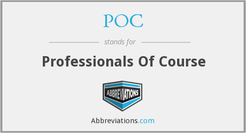 POC - Professionals Of Course