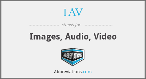 What does IAV stand for?