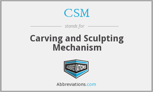CSM - Carving and Sculpting Mechanism