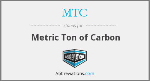 MTC - Metric Ton of Carbon