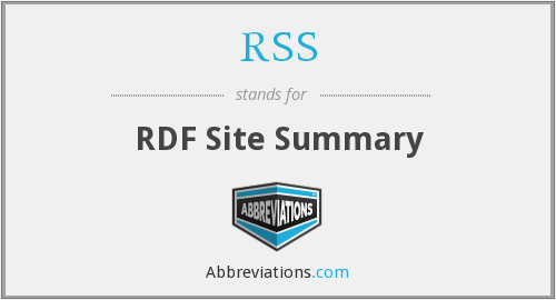 RSS - RDF Site Summary