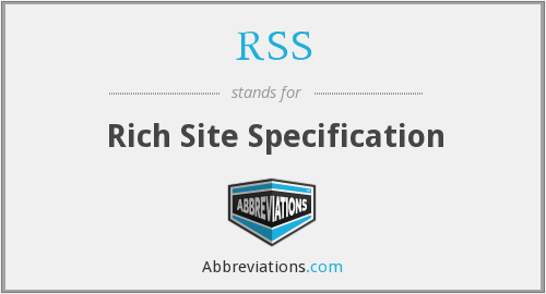 RSS - Rich Site Specification