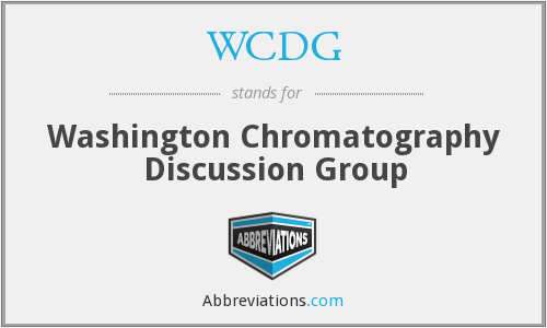 WCDG - Washington Chromatography Discussion Group