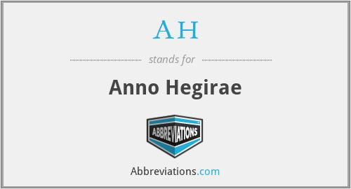 AH - Anno Hegirae