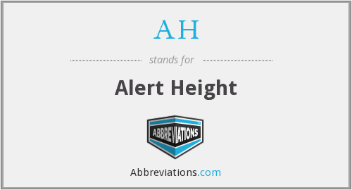 AH - Alert Height