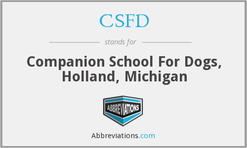 CSFD - Companion School For Dogs, Holland, Michigan