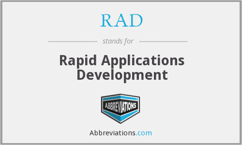 RAD - Rapid Applications Development