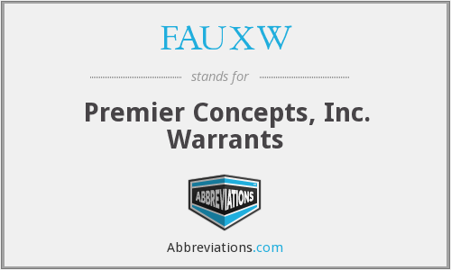 What does FAUXW stand for?