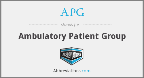 APG - Ambulatory Patient Group