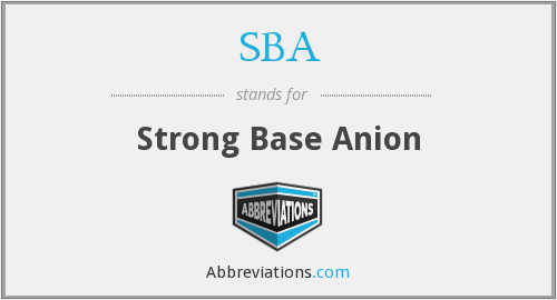SBA - Strong Base Anion
