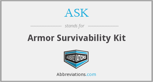 ASK - Armor Survivability Kit