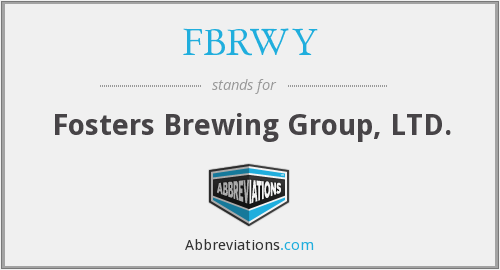 What does FBRWY stand for?