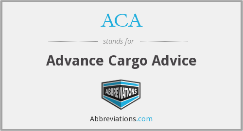 ACA - Advance Cargo Advice