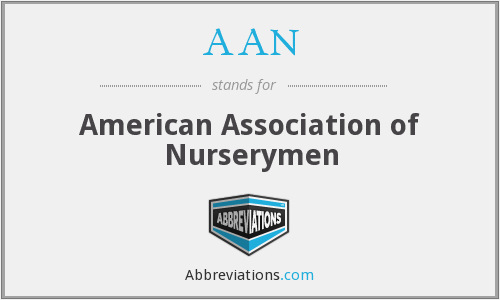 AAN - American Association of Nurserymen