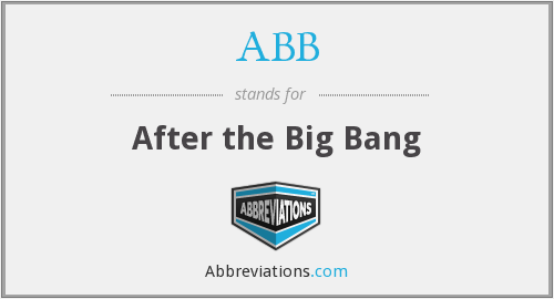 ABB - After the Big Bang