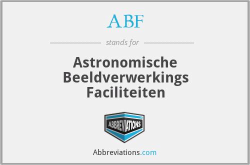 ABF - Astronomische Beeldverwerkings Faciliteiten
