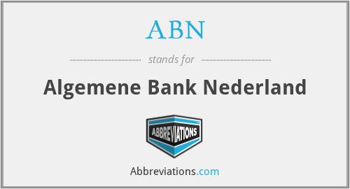 ABN - Algemene Bank Nederland