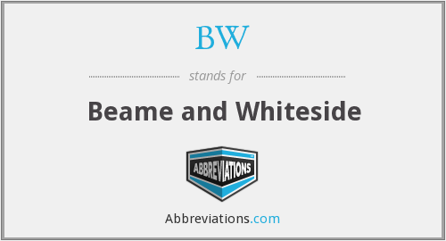 BW - Beame And Whiteside