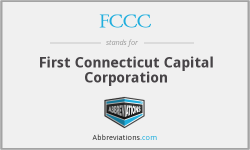 FCCC - First Connecticut Capital Corporation