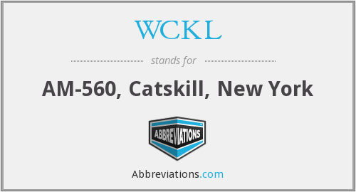What does WCKL stand for?