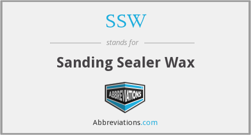 SSW - Sanding Sealer Wax