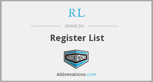 RL - Register List