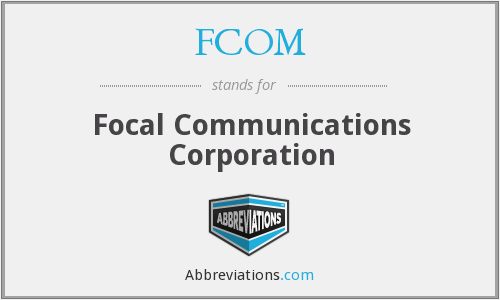 What does FCOM stand for?
