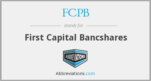 FCPB - First Capital Bancshares