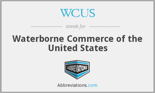 WCUS - Waterborne Commerce of the United States