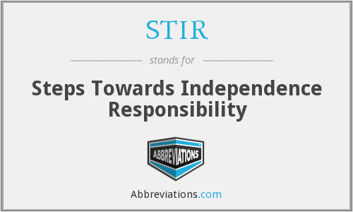 STIR - Steps Towards Independence Responsibility