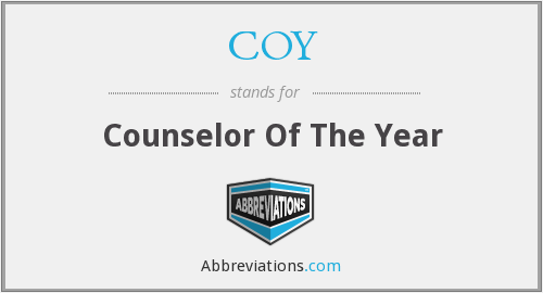 COY - Counselor Of The Year