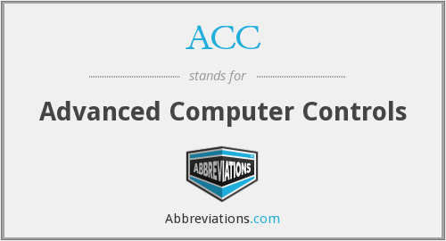 ACC - Advanced Computer Controls