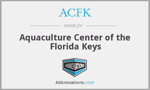 ACFK - Aquaculture Center of the Florida Keys