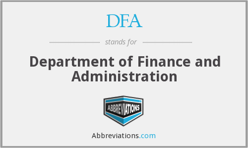 DFA - Department of Finance and Administration