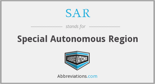 SAR - Special Autonomous Region