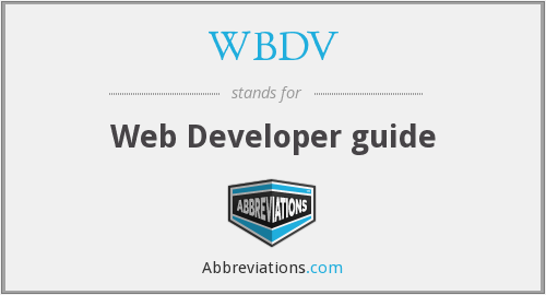 What does WBDV stand for?