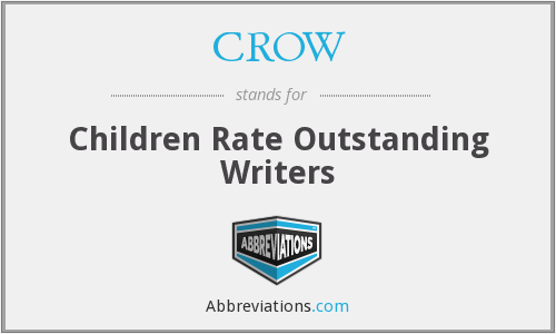 CROW - Children Rate Outstanding Writers