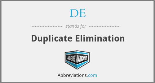 DE - Duplicate Elimination