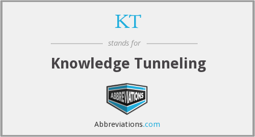 KT - Knowledge Tunneling