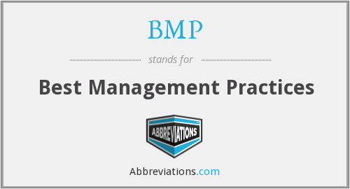 BMP - Best Management Practices