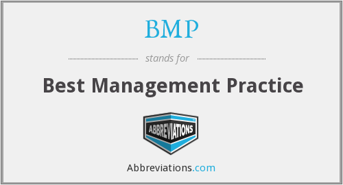 BMP - Best Management Practice
