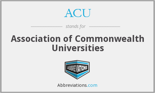 ACU - Association of Commonwealth Universities