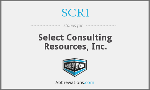 SCRI - Select Consulting Resources, Inc.