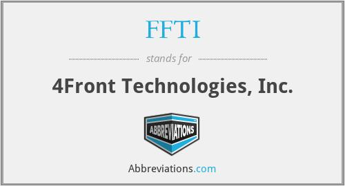 FFTI - 4Front Technologies, Inc.