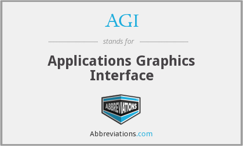 AGI - Applications Graphics Interface