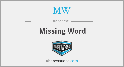 MW - Missing Word