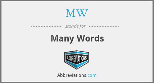 MW - Many Words