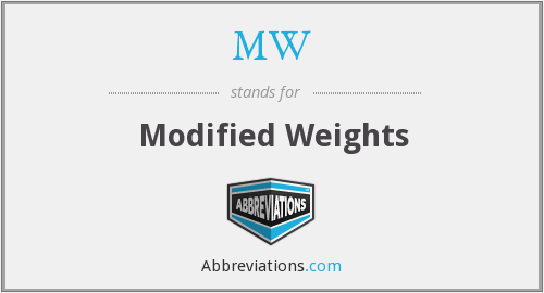 MW - Modified Weights