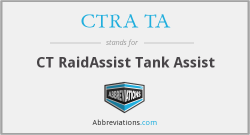 What does CTRA TA stand for?